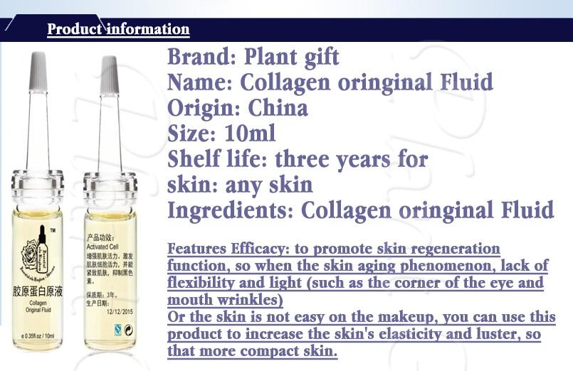 Collagen Original Fluid Eye Repair Face Care Dark Circles Anti-Aging Moisturizing Whitening 10ml*2pcs 15