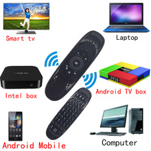 2.4GHz Fly Air Mouse T10 C120 Remote Control Wireless 3D Gyro Motion Stick For 3D Sense Game PC Android TV Box TV Smart TV Phone(China)