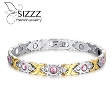 Fashion Bracelet Jewelry Energy Health Magnetic Bracelets for Women Balance Bracelets & Bangles(China)