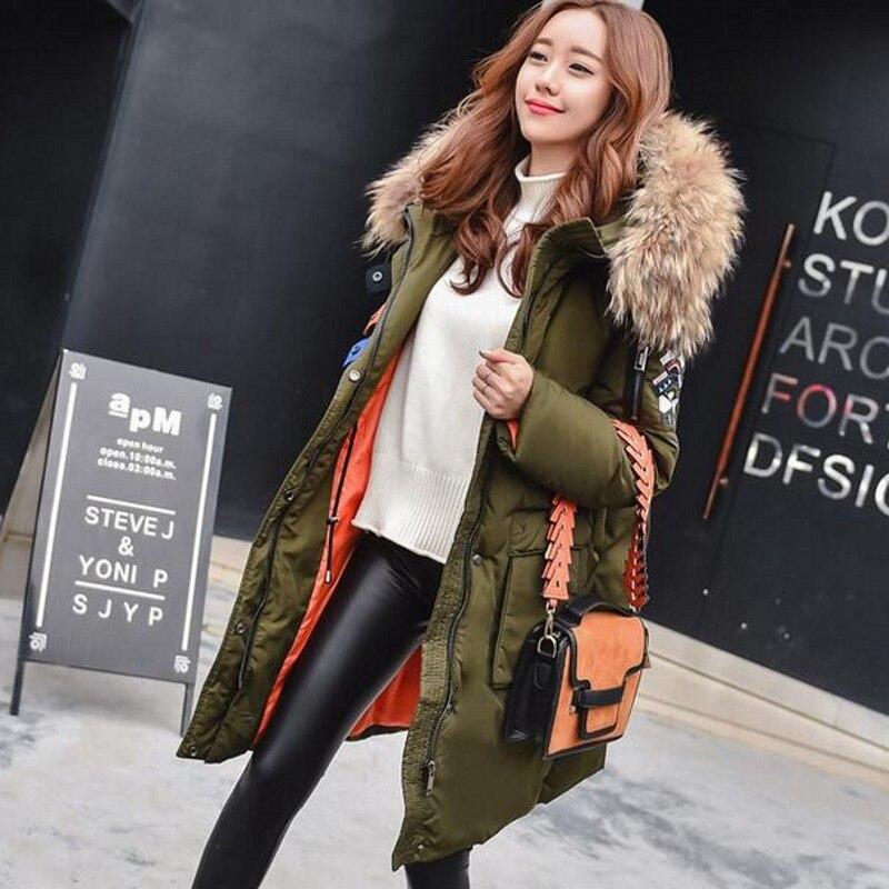 2016 duck down jacket women luxury brand winter parka designer thickening long coats hooded raccoon fur casual goose womenОдежда и ак�е��уары<br><br><br>Aliexpress