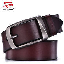 DINISITON designer belts men high quality genuine leather belt man fashion strap male cowhide belts for men jeans cow leather(China)