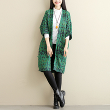 Women Sweater Long Cardigan Winter New Japan Mori Girl Three Quarter Sleeve Knitted Cardigan Female Fashion Sweaters Long Coat(China)