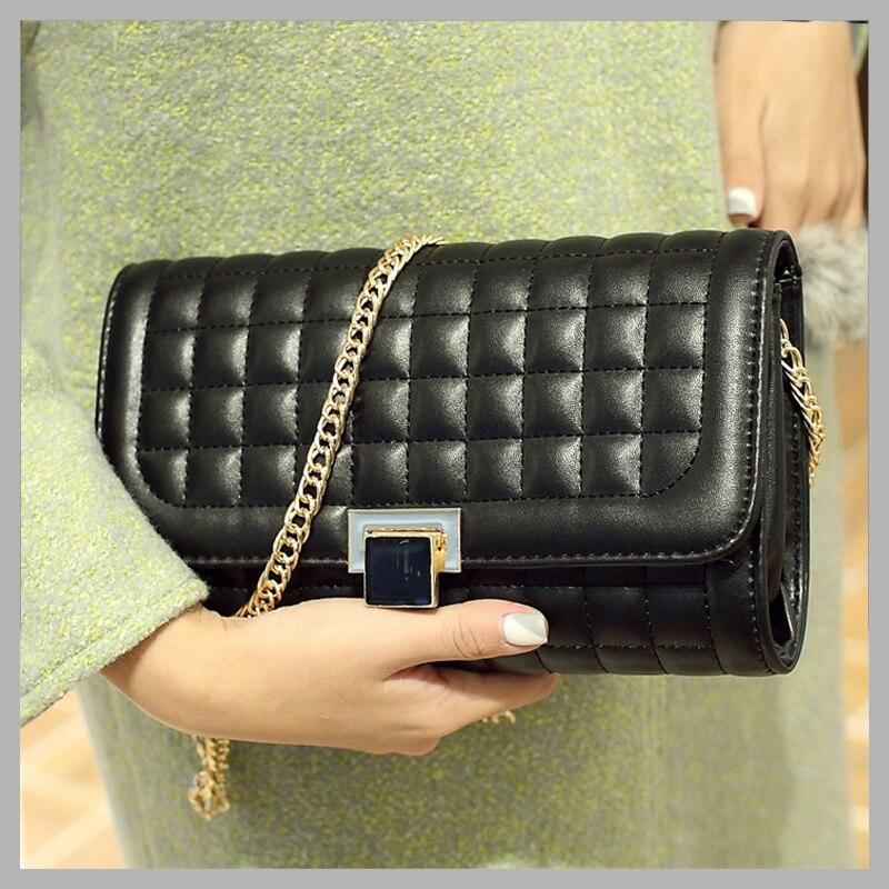 2017 women messenger bags plaid pu crossbody bags for women chain designer handbags high quality fashion bolsos mujer bolsas <br><br>Aliexpress