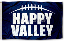 Penn State University Happy Valley Flag 3x5FT NCAA banner 100D 150X90CM Polyester brass grommets custom66,free shipping(China)
