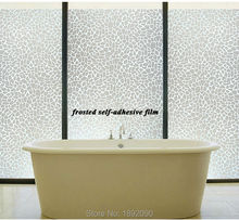 "45*100cm/17.7""*39.4"" Opaque Self-adhesive Frosted Privacy Smooth Glass Window Film Sticker White Cracked Ice Mirror ST024(China)"