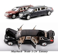 1:24 Luxury Car model, Alloy Good Model 19Cm Benz Maybach Nice collection 6 Open doors