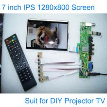 7 inch DIY Projector TV 1280*800 LCD Module Screen Monitor USB Mp4 Player DIY 1080P VGA AV Raspberry Pi 3 with Remote