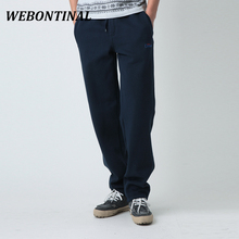WEBONTINAL Autumn Winter Fleece Warm Sweatpants Jogger Pants For Men Casual Male Trousers Tracksuit Quality Brand Hip Hop Sweat(China)