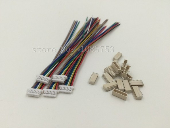 10 sets Micro JST 1.0mm 8-Pin Connector with Wire<br><br>Aliexpress