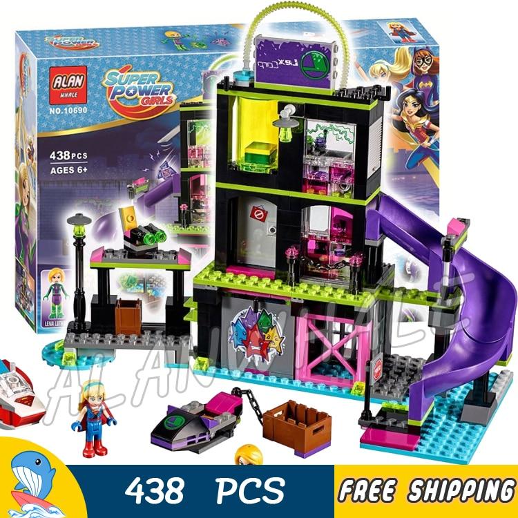 438pcs Super Heroes DC Girls Lena Luthor Kryptomite Factory 10690 Model Building Blocks Children Toys Brick Compatible With lego<br>