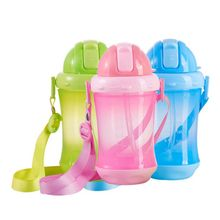 260 ML Newborn Baby Feeding Bottle PP Plastic Sippy Cup Handle Automatic Straw Non-slip Defence Fall Anti Flatulence