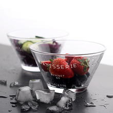 750ML Korean Style Creative Thicker Transparent Glass Heat Resistant Large Salad Fruit Bowl Dessert Soup Noodles Bowl Tableware(China)