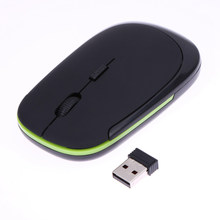 Promotion New Arrival Mini 2.4GHz Wireless Ultra-Slim USB Optical Mouse For Macbook PC Laptop Desktop