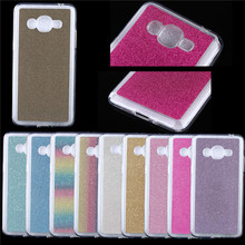 Luxury Bling Phone Cases Cover For Samsung Galaxy J2 Prime 2016 G532F Case Colorful Rainbow Soft TPU Silicone Glitter Case Funda(China)