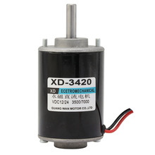 DC 12V 3000rpm or 24V 6000 rpm high speed DC 30W Miniature adjustable speed motor Can be positive and negative motor