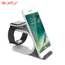 RAXFLY Desktop Stand Dock Station For iPhone 6 6s Plus 7 7 Plus Cool Bracket Cradle Holder For i Watch For Samsung Huawei Tablet