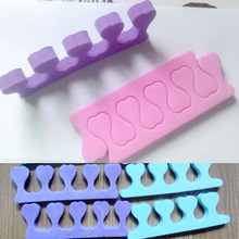 1 pair (2pcs) EVA foam toe separator nail art feet care bracelet support toe finger separators pendicure  tools