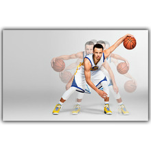 Stephen Curry Basketball Star Art Silk Fabric Poster Print Wall Home Decor Pictures 15x24 20x32 22x36 Inches YD672