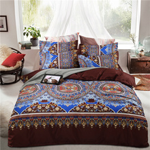 LAI YIN SUN 3D Beddding set Boho Brown Duvet Cover Sets US Twin Queen King Size Colorful Bedclothes(China)
