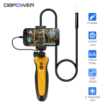 DBPOWER 2MP 8.5MM Lens Endoscope 1M Tube Protable Borescope 720P HD Waterproof for OTG Android Phone Snake Camera with 6 LEDs(China)