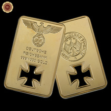 24k Gold Plated Bar Capsule Replica Gold Bar Deutsche Reichsbank Germany As Gifts Collection(China)