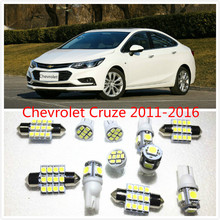 11 set White LED Lights Interior Package T10 & 31mm Map Dome For Chevrolet Cruze  Equinox Volt  Corvette Express 1500 2011-2016