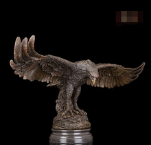 Western Abstract Art Sculpture Eagle Hawk Bronze Copper Marble Statue Figurine
