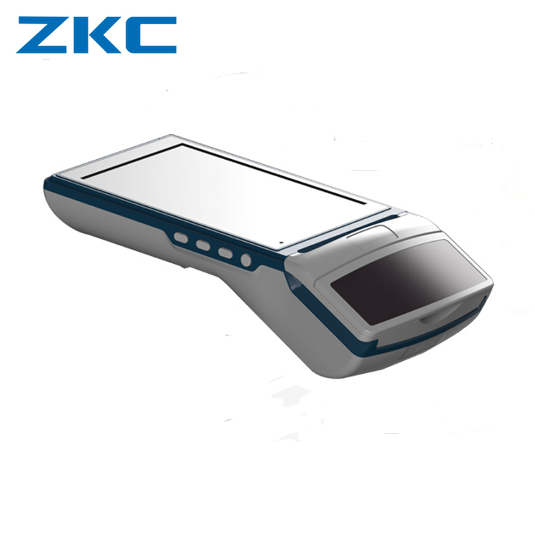 "ZKC5501 5.5"" touch screen android handheld barcode scanner thermal printer using inventory management"