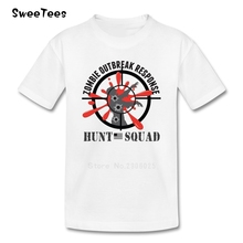 Zombie Outbreak Response Boys Girls T Shirt Pure Cotton Short Sleeve O Neck Tshirt children's Tees 2017 Tops T-shirt For Kids
