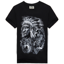 2016 New Fashion Brand Clothing 3D Indians Print T shirts O neck Short Sleeves Boy Cotton Men t-Shirt Casual Man Tees Mens Tops