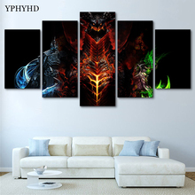 YPHYHD Modern Decoration for Home 5 Piece World of Warcraft Canvas Art Print Poster Picture Frames Modular Paintings on the Wall(China)