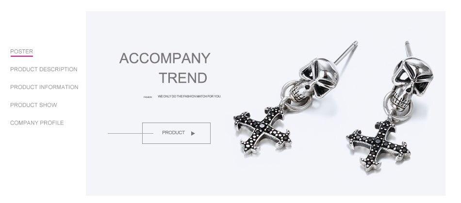 Say-You-Say-Me-925-Sterling-Skull-Earrings-Wholesale-Fashion-Black-Zircon-Cross-Earrings-Unisex-Best-T07