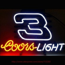 Coors Nascar #3 Dale Neon Sign Neon Bulbs Led Signs Shop Display Custom Real Glass Tube Handcrafted Decorated Attract Sign 17X14