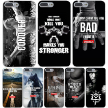 Loving Bodybuilding Gym Fitness Hard Transparent Cover Case for iPhone 7 7 Plus 6 6S Plus 5 5S SE 5C 4 4S