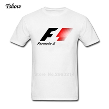 F1 Logo Tshirts Man 100% Cotton Summer Tops F1 Men's Short Sleeve Oversize T Shirt For Teenager Latest XS-3XL T-Shirt Clothes
