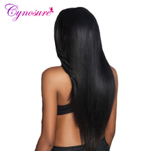 Cynosure Human Hair Bundles 1 Piece Only Can Buy 3 Or 4 Bunldes Peruvian Straight Hair 8''-28'' Natural Black Non-remy Hair(China)