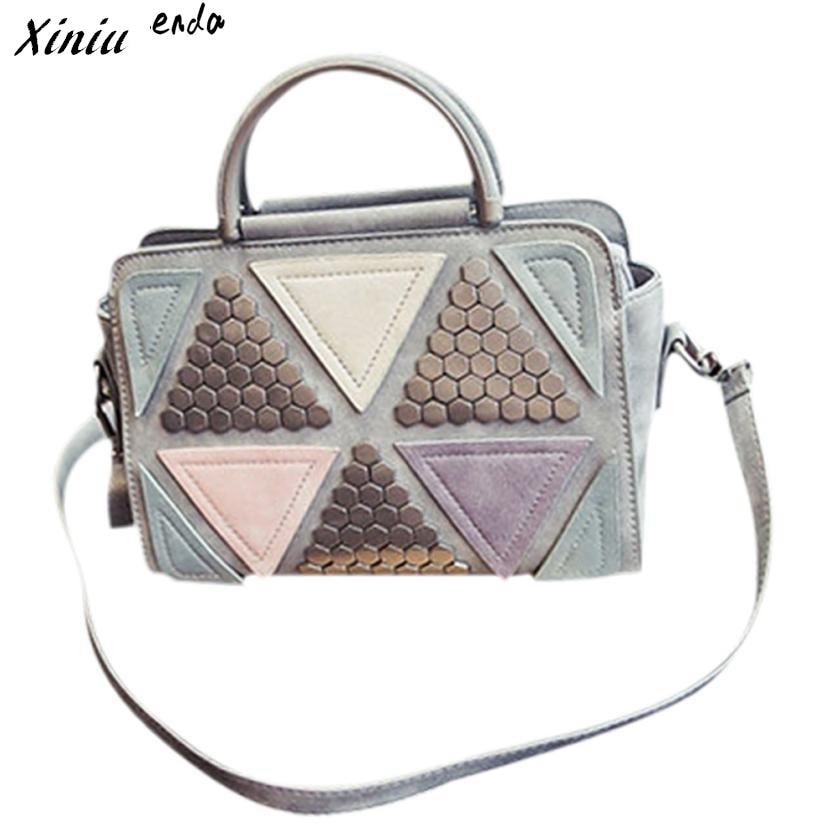 Xiniu Women Messenger Bags Multicolor Geometric Rivet Crossbody Bags For Women Bolsas Feminina #2822<br><br>Aliexpress