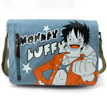 Men Women Anime One Piece One Punch Man My Neighbor Totoro Black Bulter Dragon Ball Canvas Messenger Shoulder Bag Cosplay(China)