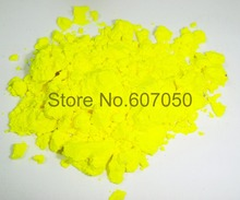 50gram x NEON Yellow Color Fluorescent Pigment Powder for Nail Polish&Painting&Printing