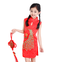 2017 autumn adorable infant baby girls dress toddler baby girls flower printed dress kids girls chinese dress cheongsam clothes