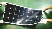 200W (100watt X2pcs) 12V Semi-Flexible mono solar panel, for car and boat ,200W in Total