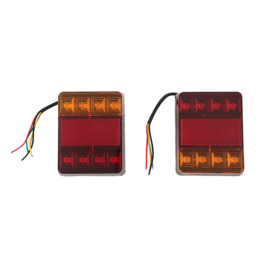 2 Units Taillights Warning Lights Truck Parts DC 12 V Tailights Car Auto Rear Tow Truck Boat Car 8 LED Bulbs Styling(China)
