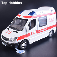 1:32 Scale Model Car ambulance Diecast Car Model With Sound&Light Collection Car Toys Vehicle Gift For Children