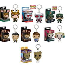 Funko Pop Keychain Harley Quinn Suicide Squad Loki Ant Man Dancing Groot Funko Pop Supernatural Guardians of the Galaxy Groot