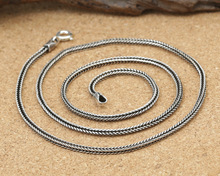 S925 Thailand 2mm import wholesale silver jewelry pendant rope chain collocation of male and female Silver Necklace(China)
