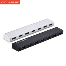 Original New Acasis All Aluminum Alloy Hub Mac Style 7 Ports USB3.0 HUB High Speed Expansion HUB For desktops/ laptops(China)