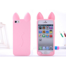 Cat Cute Ears Phone Cases For Iphone 5 5s 6 6s 6Plus 7 7s 7plus Soft Clear TPU Silicon Ultra-Thin Phone Cover Case Phone Shell(China)