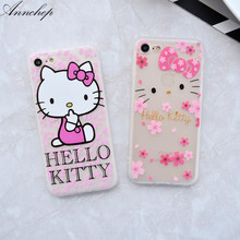 All protective Flamins ilicone case For iphone 6 6s plus 7 8 Plus cover soft Hello kitty for iphone X 6 carcasa capa coque funda(China)