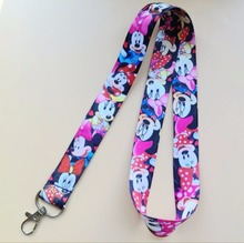 1 Pcs popular Minnie Cartoon Neck Straps Lanyards Mobile Phone,ID Card,Key(China)