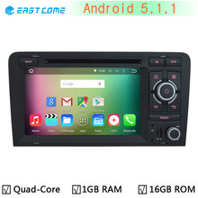 HD 1024*600 Quad Core Android 5.1.1 Car DVD Player GPS Navigation Sysrtem for Audi A3 S3 RS3 2003-2011 Radio Stereo USB 3G Wifi(China)